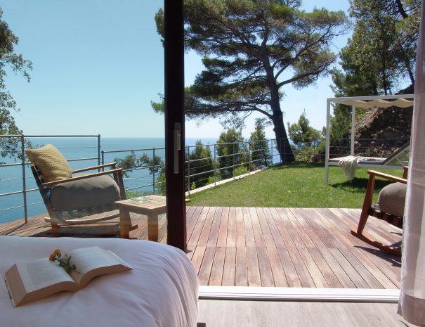 Suite vista dal letto della terrazza