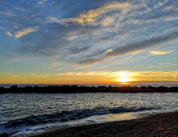 Il tramonto di Framura