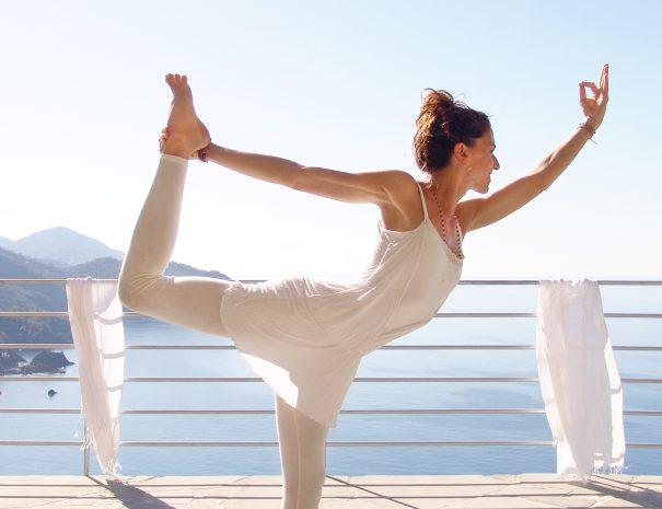 Yoga in terrazza
